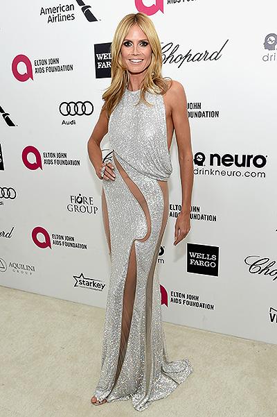 41-летняя Хайди Клум появилась на публике без нижнего белья