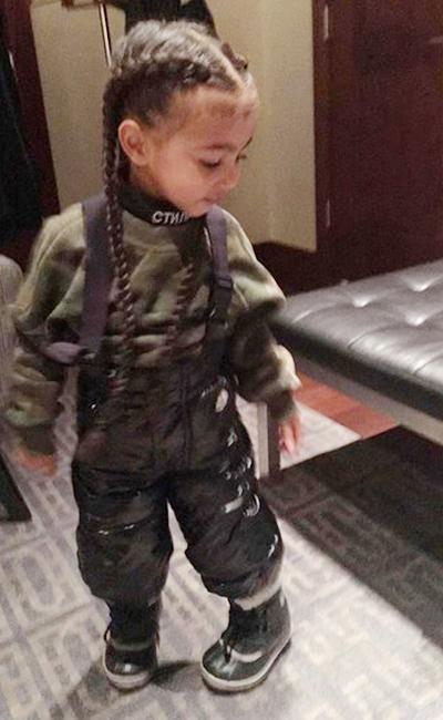 Фотофакт: Ким Кардашяьн нарастила волосы двухлетней дочери