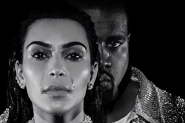 Горькие слезы: Ким Кардашьян и Канье Уэст расплакались в новой рекламной кампании