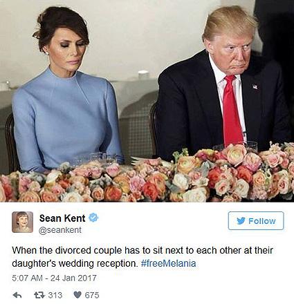 Немного приуныла: пользователи сети высмеяли грустную Меланию Трамп на инаугурации мужа