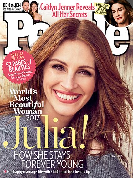 Джулия Роберт в пятый раз признана самой красивой женщиной по версии журнала People