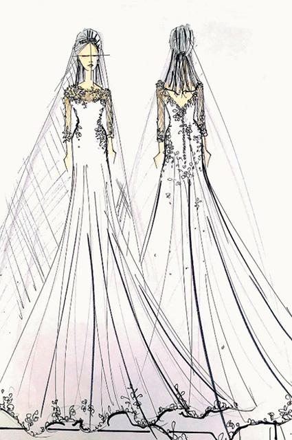 Нежно и роскошно: дизайнеры нарисовали свадебное платье Пиппы Миддлтон