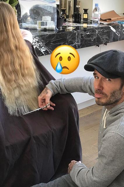 Это случилось: Дэвид Бекхэм обстриг волосы дочери Харпер