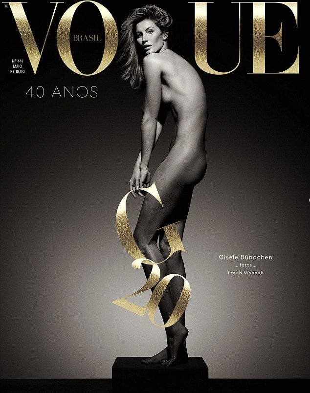 Жизель Бундхен снялась голой для обложки Vogue Brazil