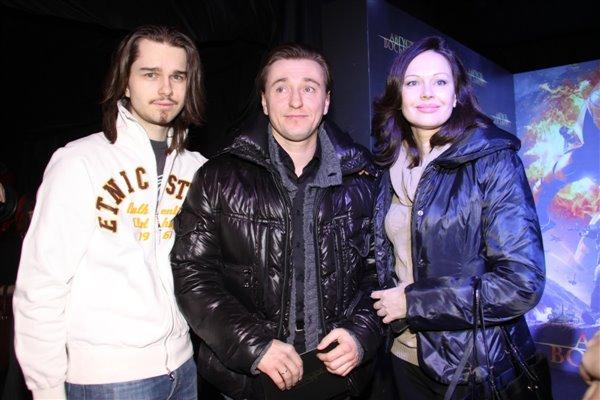 Сергей Безруков, Ирина Безрукова и ее сын Андрей Ливанов