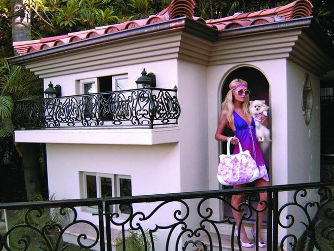 Внутри расположены гостиная, спальни для каждой собаки в отдельности, интерьер украшен лепниной, шкафы ломятся от собачьих одежек и аксессуаров (причем, все от ведущих мировых брендов). К собакам прикреплен отдельный персонал - повар, уборщица, ветеринар и т.д.  Как утверждает сама Пэрис Хилтон, интерьер собачьего жилища оформлял тот же дизайнер, который трудился над особняком экстравагантной голливудской блондинки.
