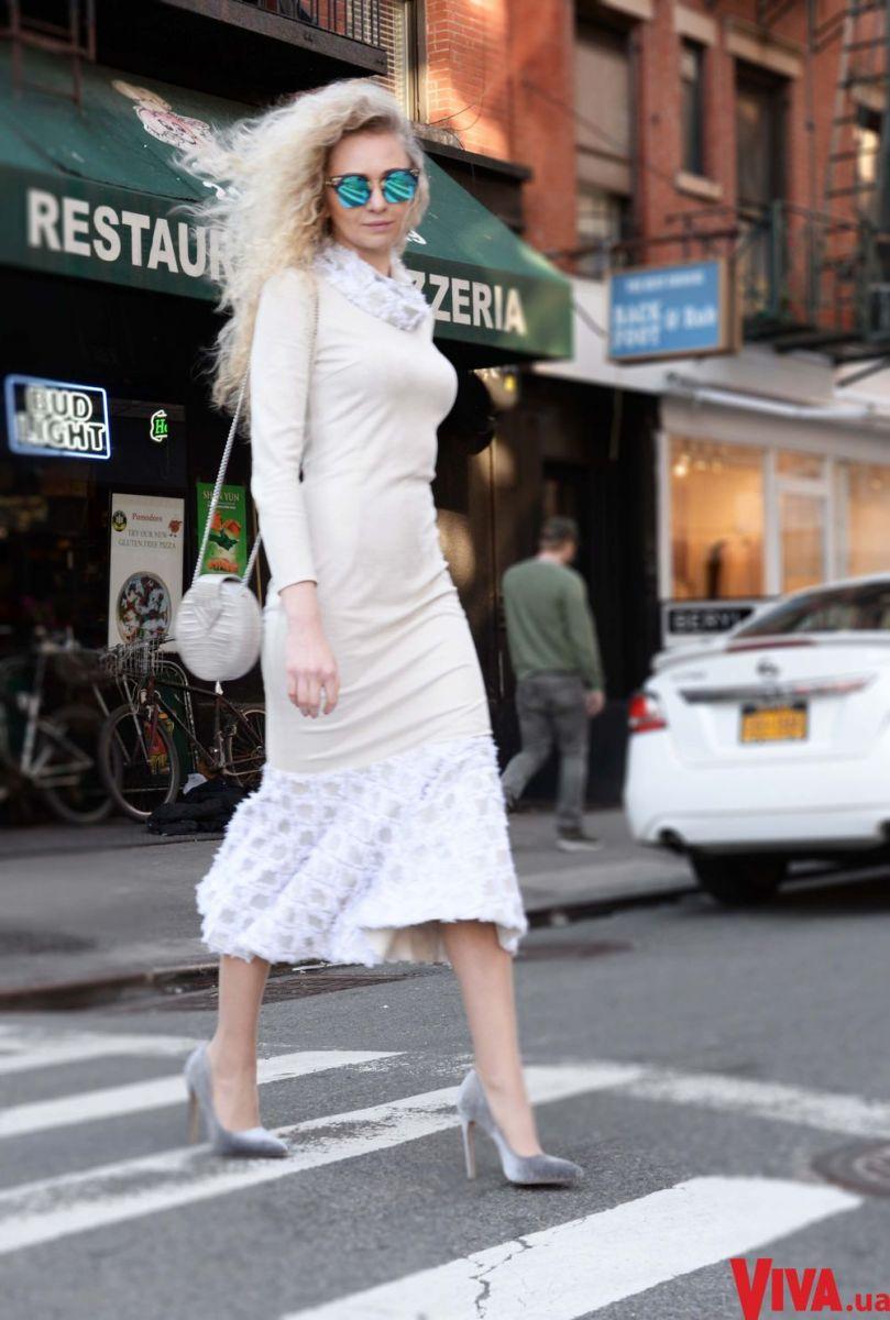 Стритстайл из Нью-Йорка: дизайнер Анастасия Иванова снялась в уличной фотосессии на Манхэттене