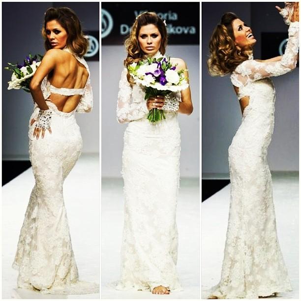 Виктория Боня в свадебном платье на Московской неделе моды. 2013