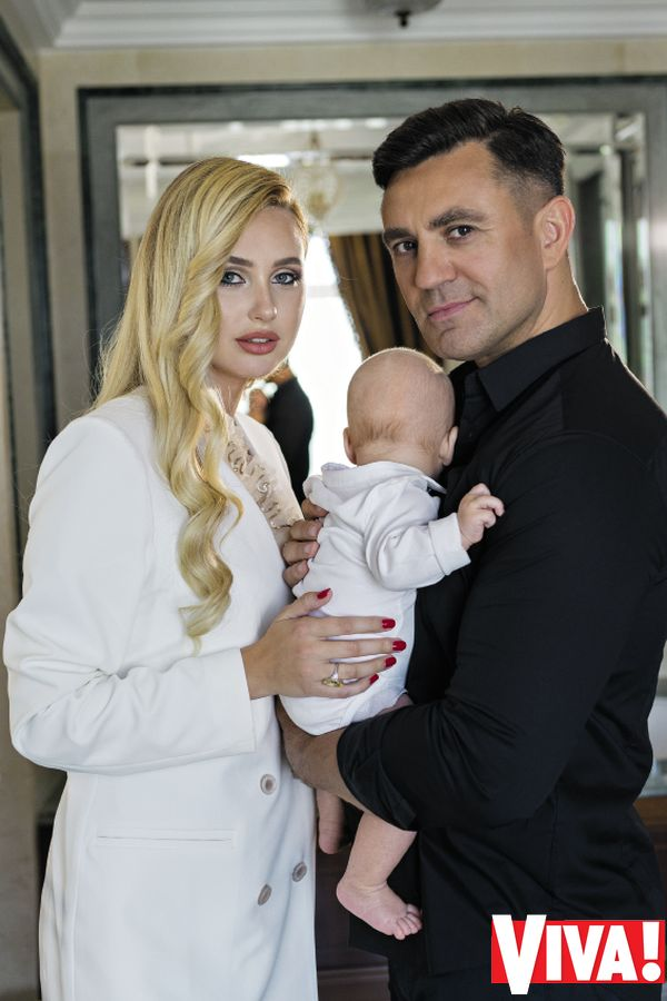 Николай Тищенко с женой и сыном