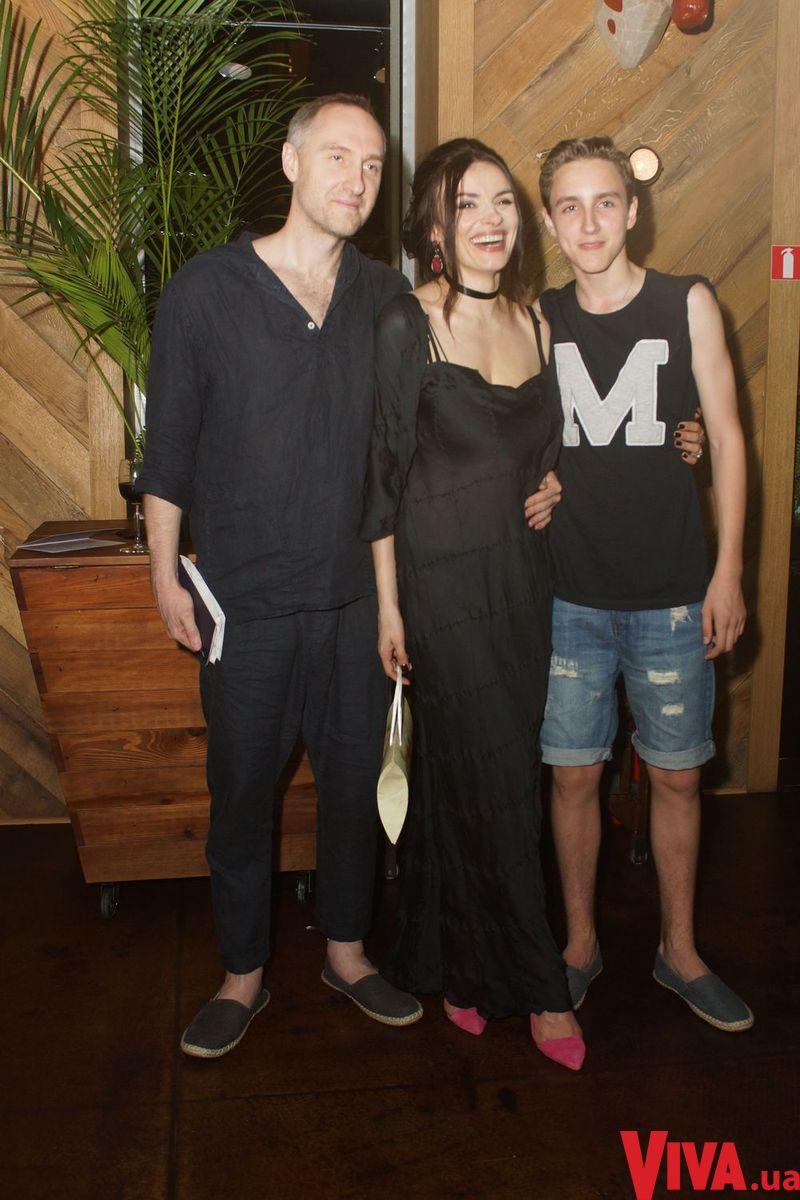 Надежда Мейхер с мужем и сыном