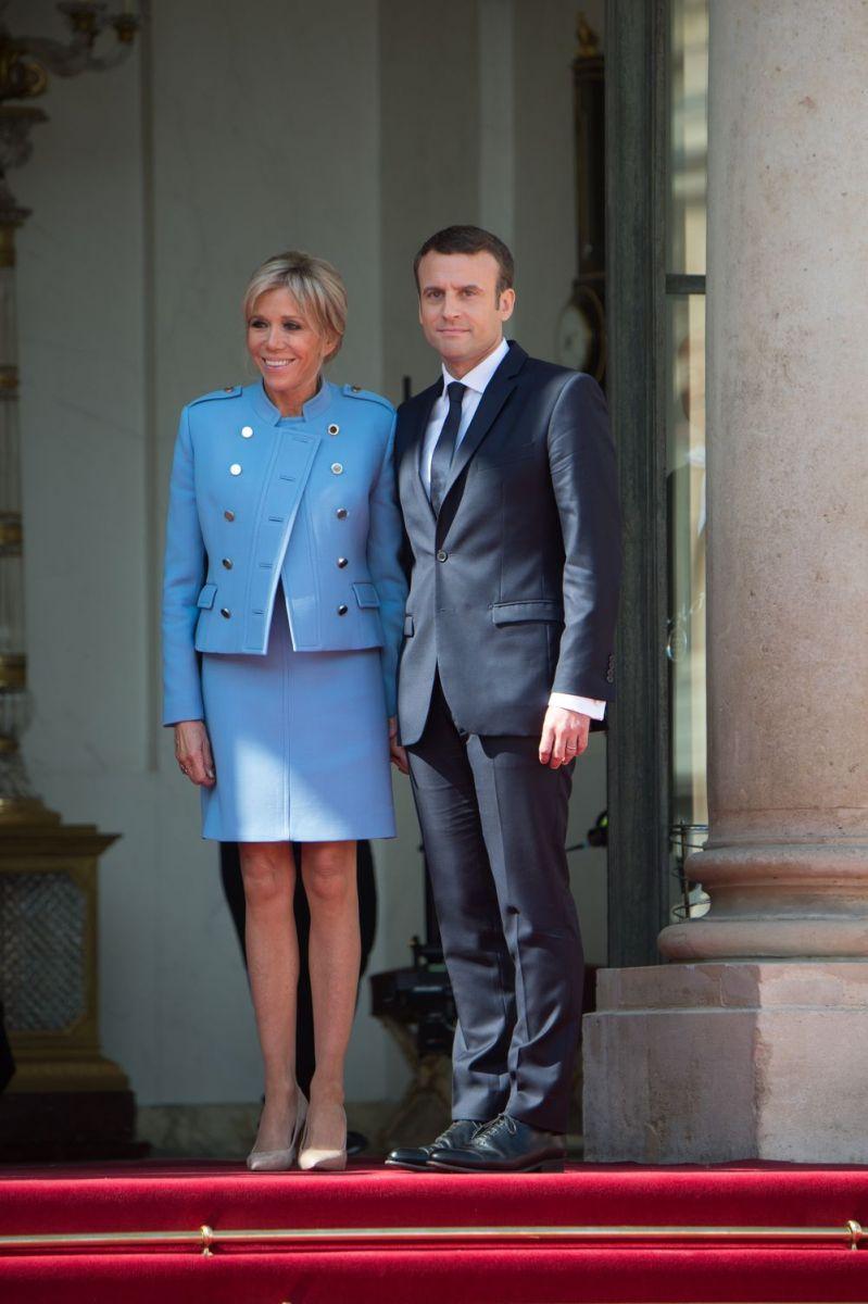 Эммануэль Макрон и его супруга Брижит