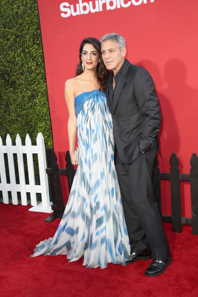 Всегда вместе: Джордж и Амаль Клуни блистают на премьере нового фильма