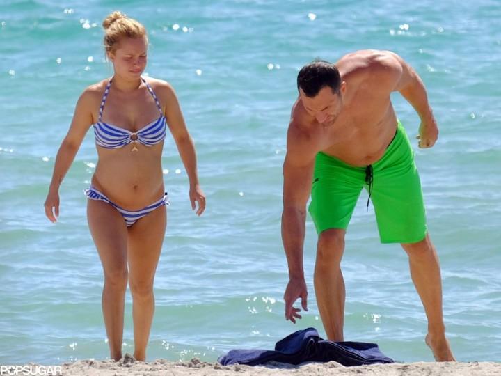 Идеальная семья: беременная Хайден Панеттьери и Владимир Кличко в Майами