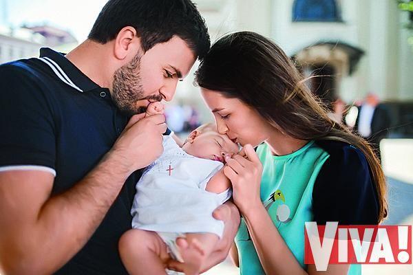 Григорий Решетник с женой и сыном