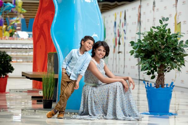 Габриэлла Массанга с сыном Тимофеем