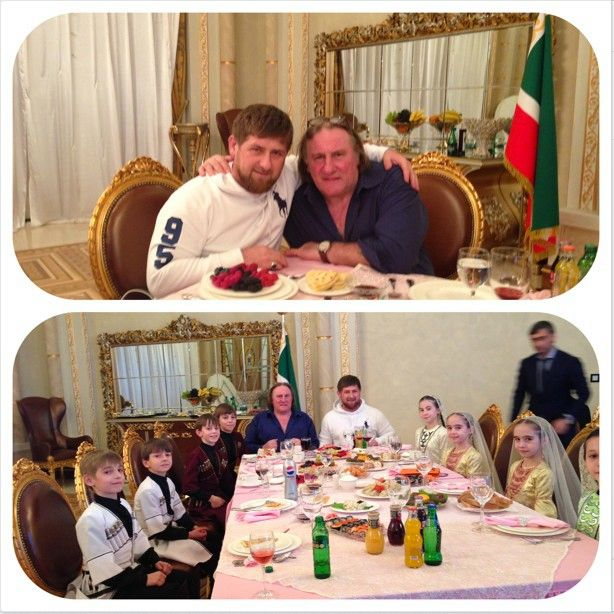 Жерар Депардье в Чечне