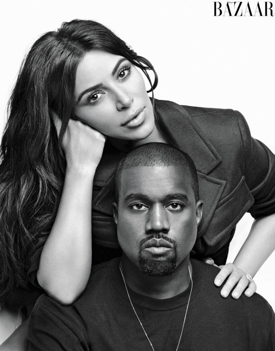 Ким Кардашьян и Канье Уэст снялись в совместной фотосессии в постели