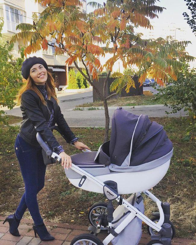 Наталка Денисенко с новорожденным сыном