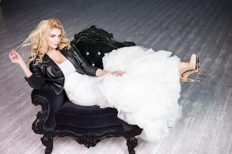 Татьяна Котова в свадебном платье