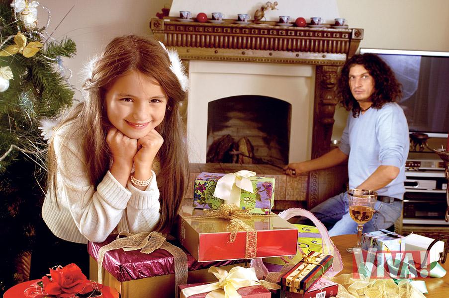 Кузьма Скрябин с дочерью в журнале Viva!