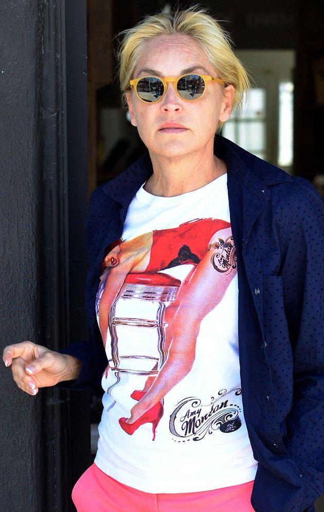 Шэрон Стоун шокировала лицом без макияжа