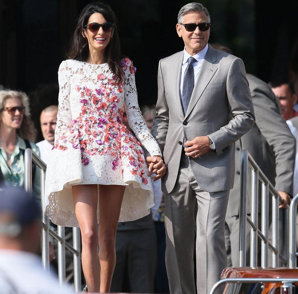 первые фото со свадьбы Джорджа Клуни
