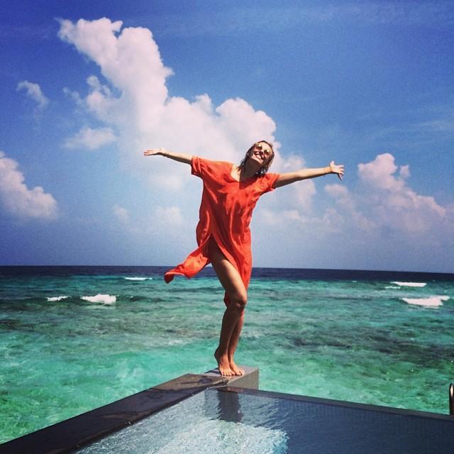 Ксения Собчак отдых в купальнике мальдивы фото инстаграм 2014