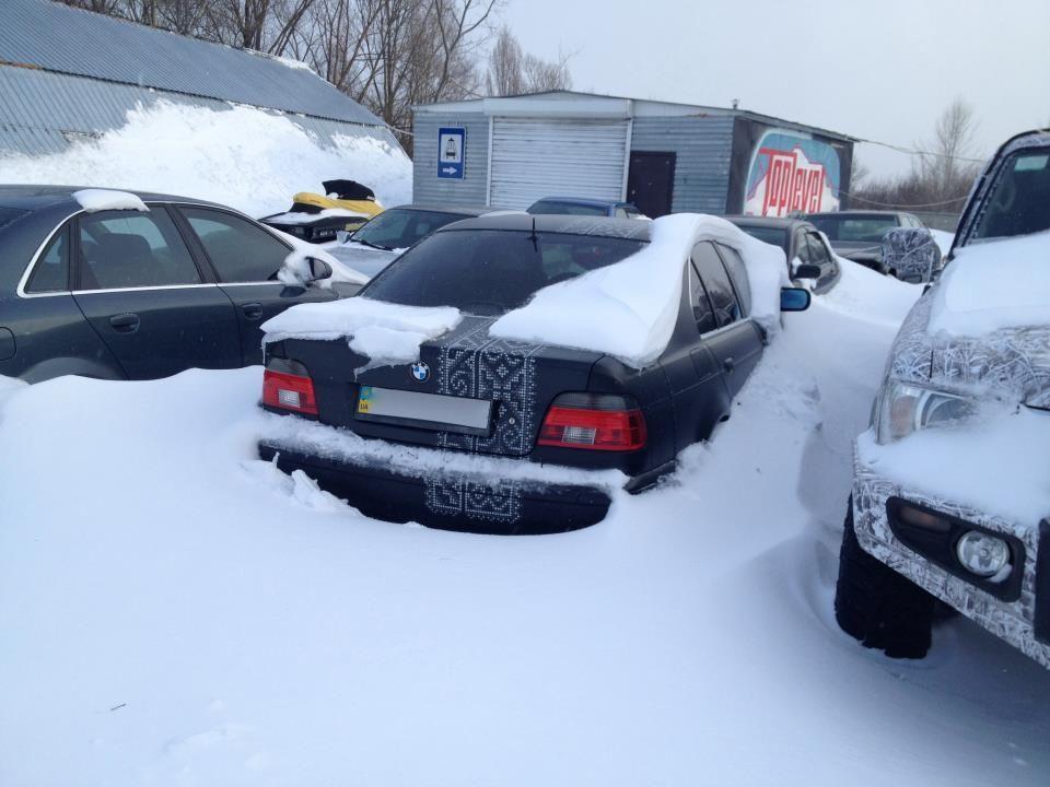 Фагот и ТНМК экстремально добрались из Киева в Харьков. Автомобиль БМВ Олега Фагота Михайлюты