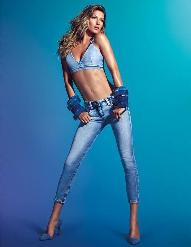 Жизель Бундхен демонстрирует фигуру в рекламе джинсов