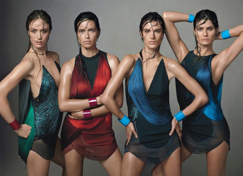 Адриана Лима и Алессандра Амбросио в журнале Vogue