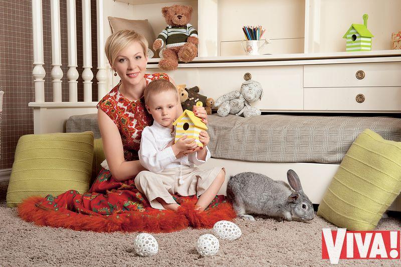 Марина Леончук и ее сын