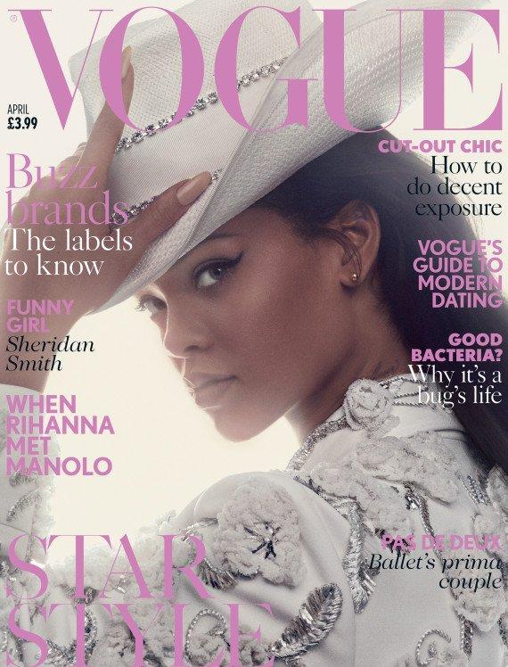 Смело и элегантно: Рианна снялась для британского Vogue