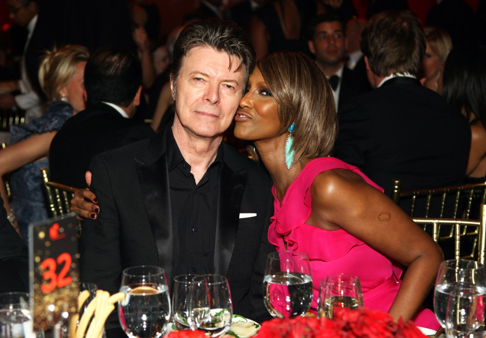 Дэвид Боуи и его жена Иман
