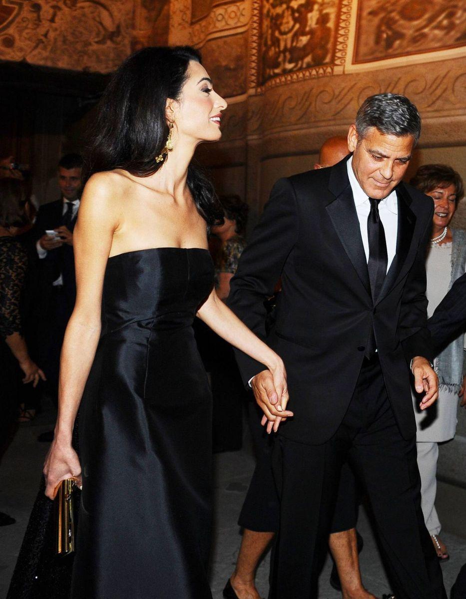 Джордж Клуни вывел в свет свою элегантную будущую жену