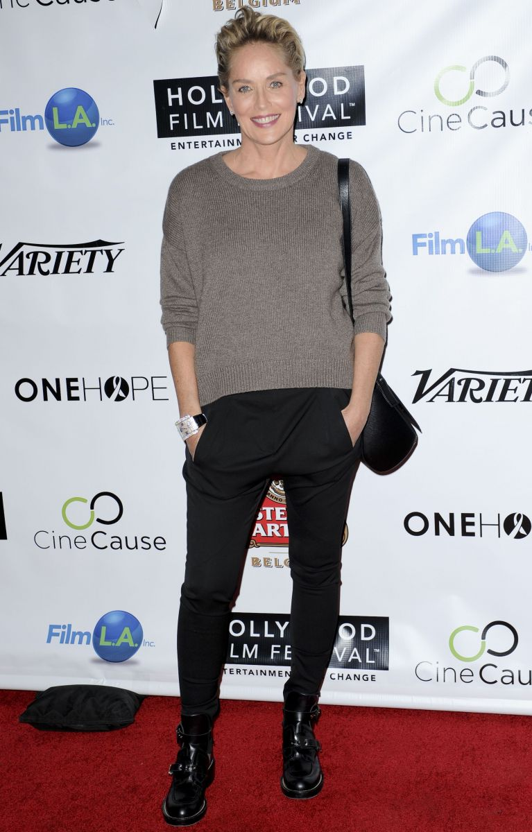 Шэрон Стоун появилась на открытии Голливудского кинофестиваля