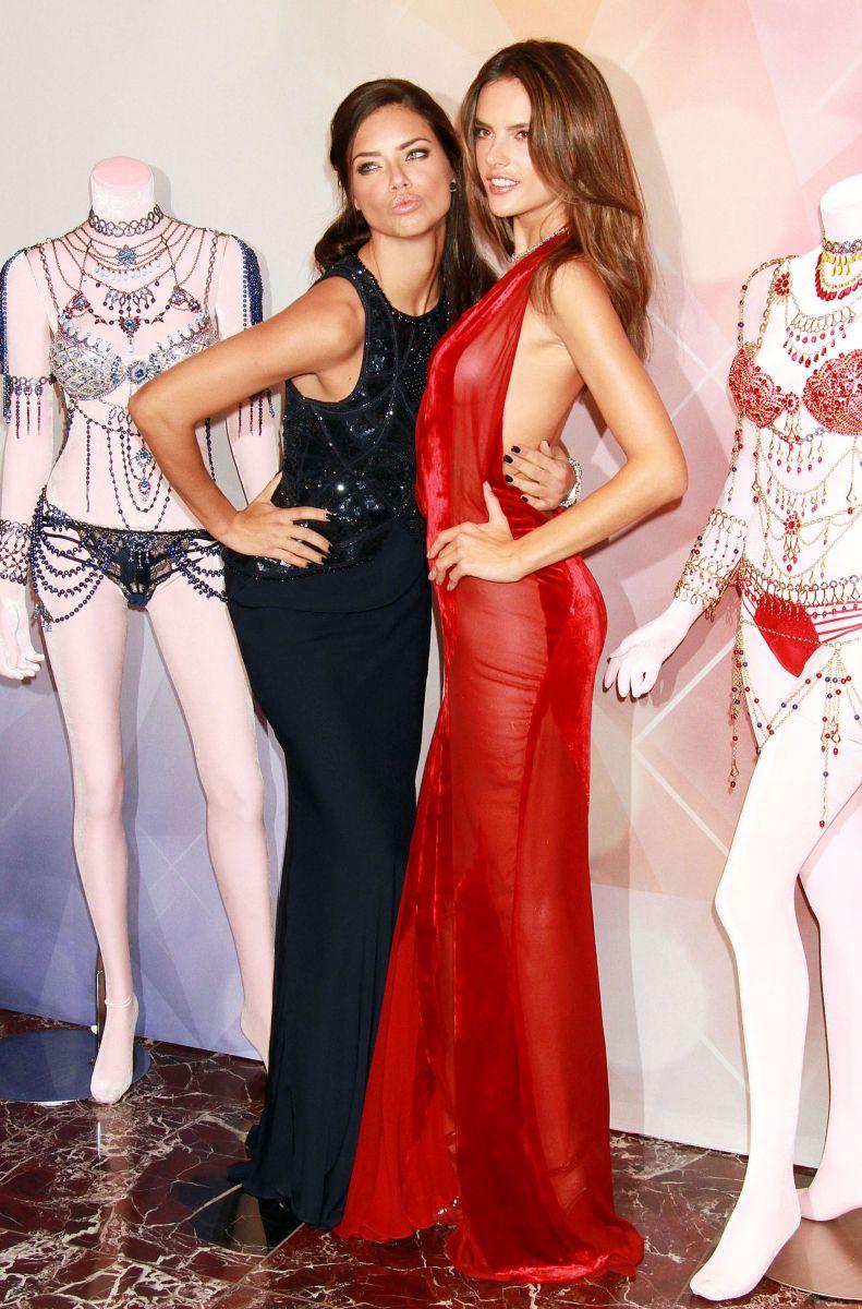 Адриана Лима и Алессандра Амбросио блистают в изысканных платьях