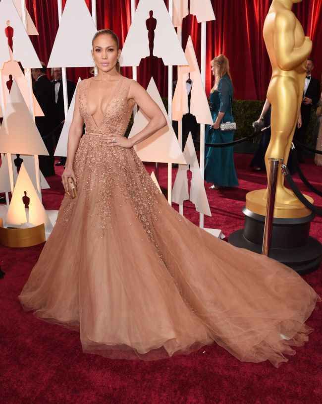 Дженнифер Лопес на церемонии Оскар-2015