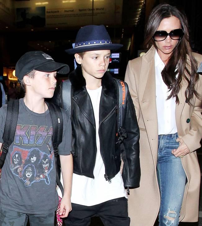 Модное семейство: Бекхэмы продемонстрировали отменный стиль в Лос-Анджелесе