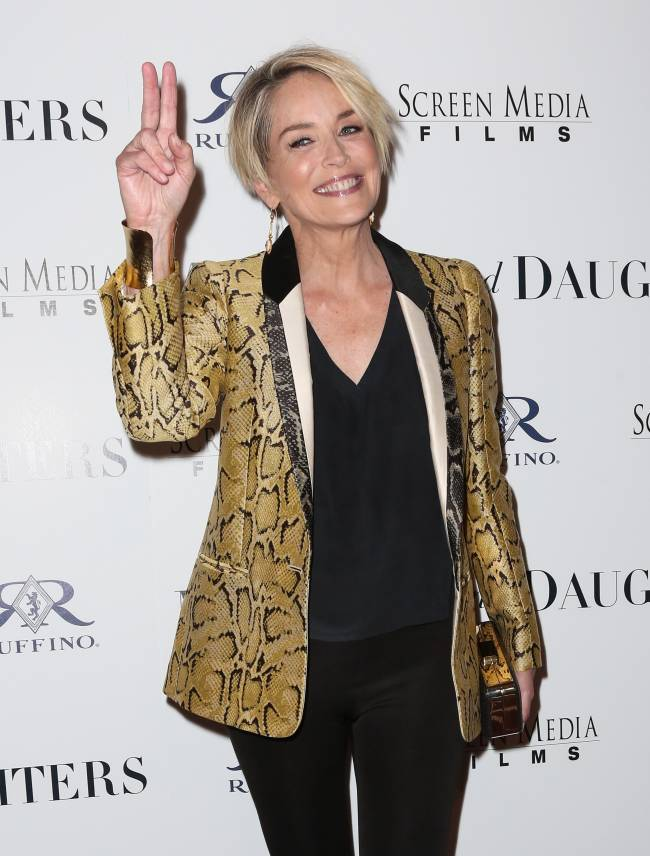 58-летняя Шэрон Стоун демонстрирует неувядающую красоту на кинопремьере