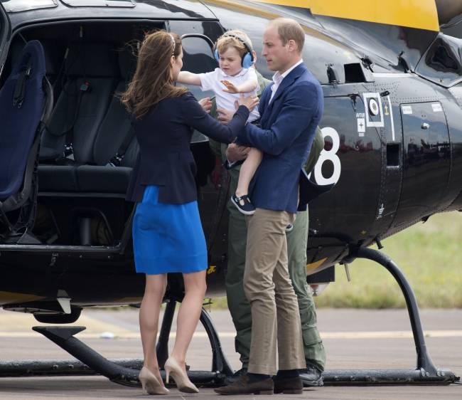 Маленький летчик: принц Джордж побывал на аэрошоу