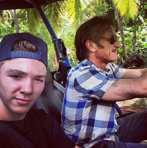 Шон Пенн с сыном Мадонны