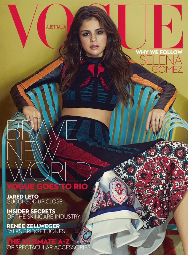Селена Гомес впервые снялась для австралийского Vogue