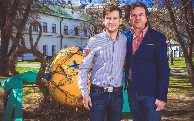 Остап Ступка и его сын Дмитрий