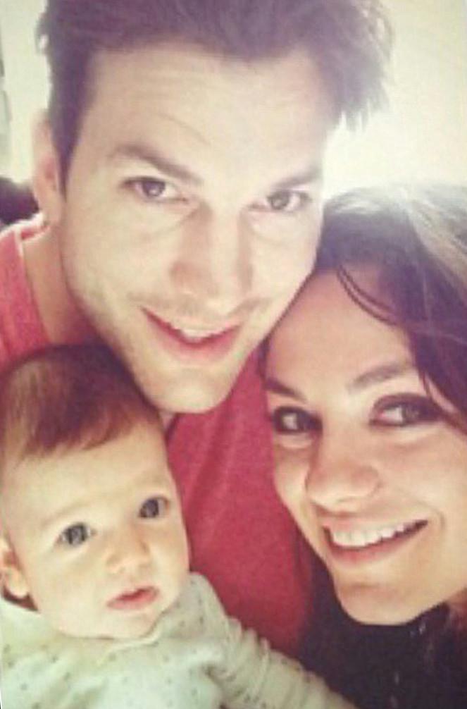Первые фото очаровательной дочери Милы Кунис и Эштона Катчера