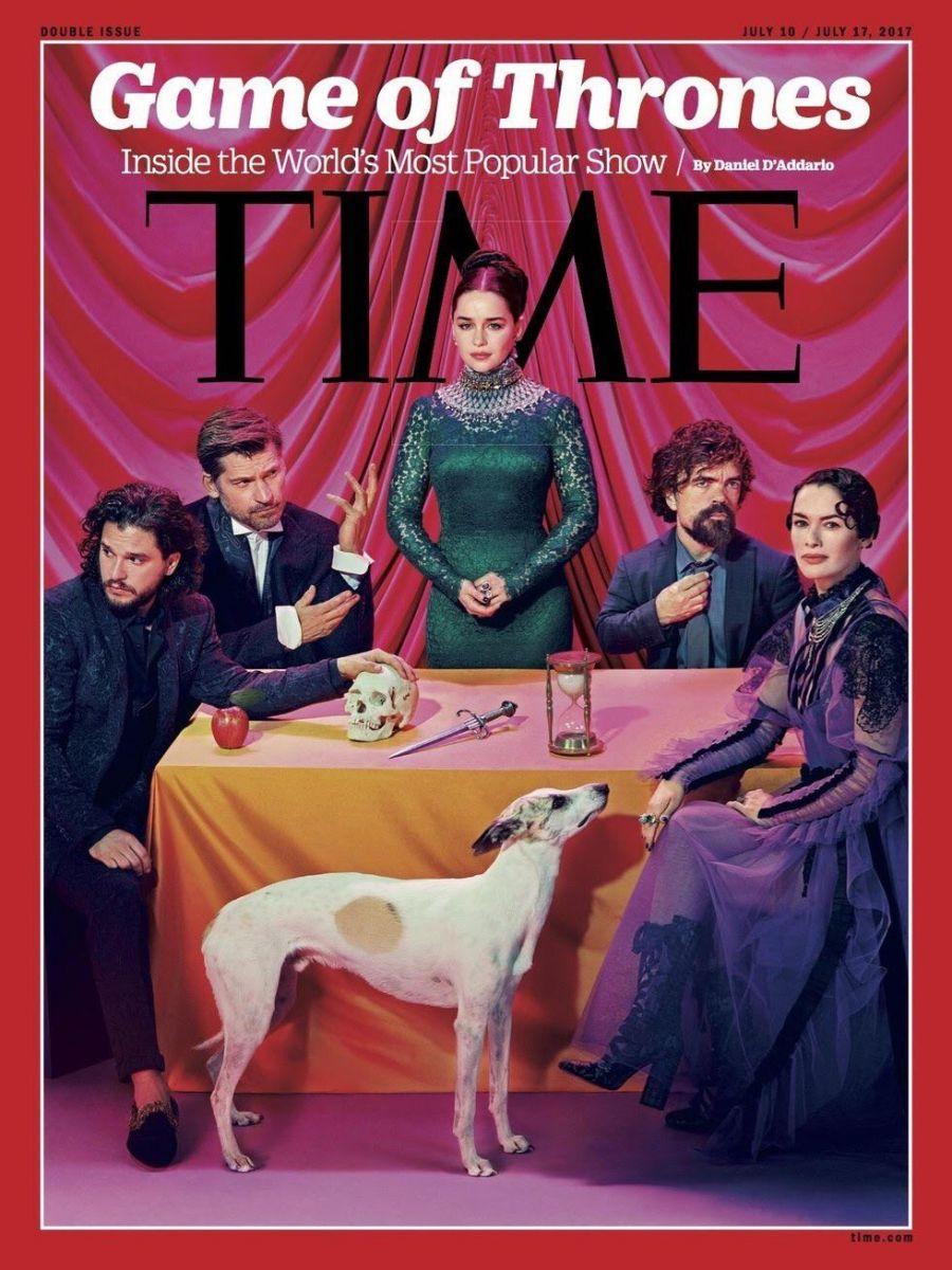 """Эмилия Кларк с красными волосами, Лена Хиди в платье с жабо и сексуальный Кит Харингтон: звезды """"Игры престолов"""" снялись в фотосессии"""