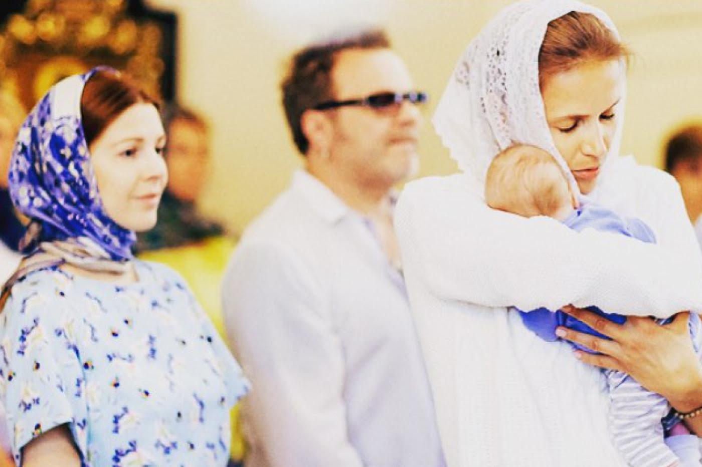 Владимир Пресняков и Наталья Подольская крестили новорожденного сына
