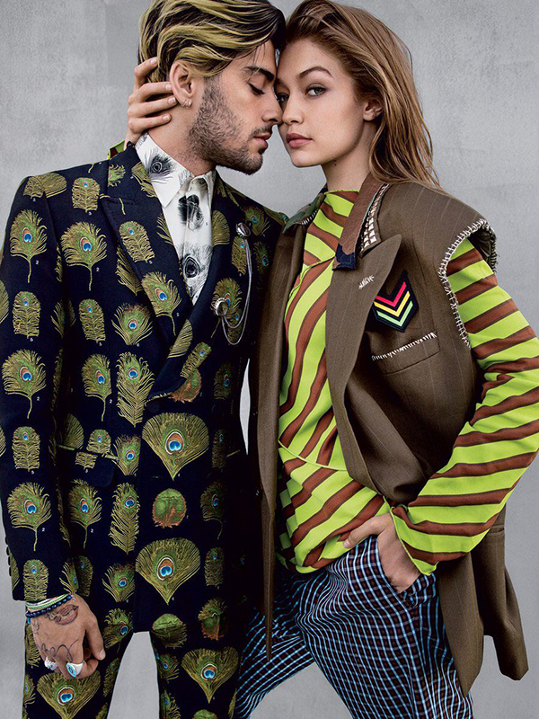 Это любовь: Джиджи Хадид снялась с бойфрендом в стильной фотосессии для глянца